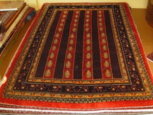 SOLD - Authentic Gabbeh Rizbaft, finest knot - one of a kind. 8'2 x 11'4