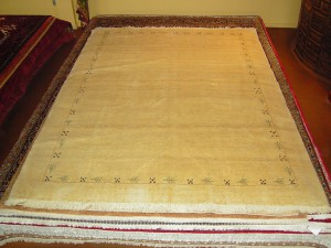 "Gabbeh - Rizbaft ""Tiny knots"" (Natural wool) 7'2 x 9'7"