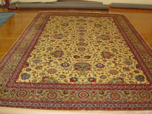 1950-60's Kashan (10'8 x 16'3 Estate $12,500 valued at $18,500) Excellent Condition