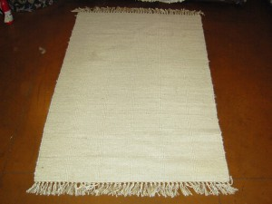 SOLD - Hand knotted wool (5' x 7'6 Estate $350)