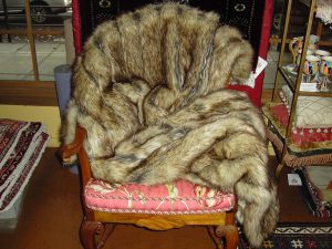 "Faux Fur throw - ""Custom"" (5' x 5'8 Estate $550 now $375)"