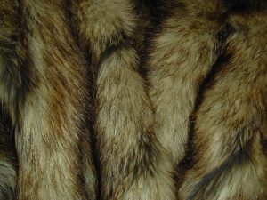 CLOSE UP - Faux Fur throw - custom made - 5' x 5'8