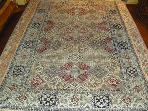 Pakistan Wool/Silk on Silk (6'9 x 10'7 Estate $795)