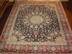 Circa 1980's Tabriz wool w silk (8' x 10'9 Estate $1,995) See CLOSE UP photo.