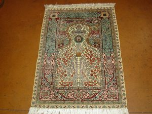 Tabriz - Tree of Life - silk/silk (3'8 x 5' Estate $2,295)